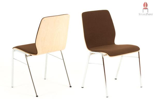 Stuhlpapst hochwertige stapelst hle tische for Schalenstuhl gepolstert